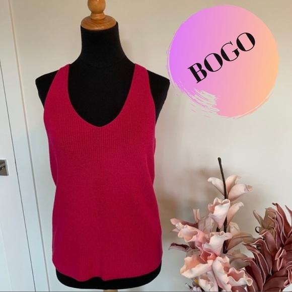 Ralph Lauren pink knit tank top size M